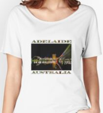 Adelaide Riverbank at Night (poster on white) Women's Relaxed Fit T-Shirt