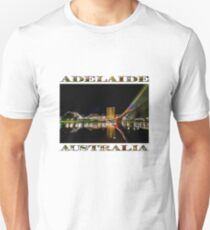 Adelaide Riverbank at Night (poster on white) Unisex T-Shirt