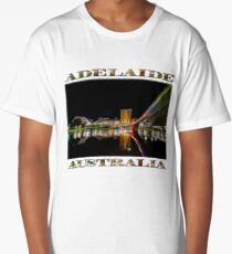Adelaide Riverbank at Night (poster on white) Long T-Shirt