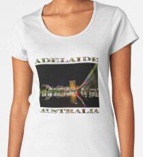 Adelaide Riverbank at Night (poster on white) Women's Premium T-Shirt