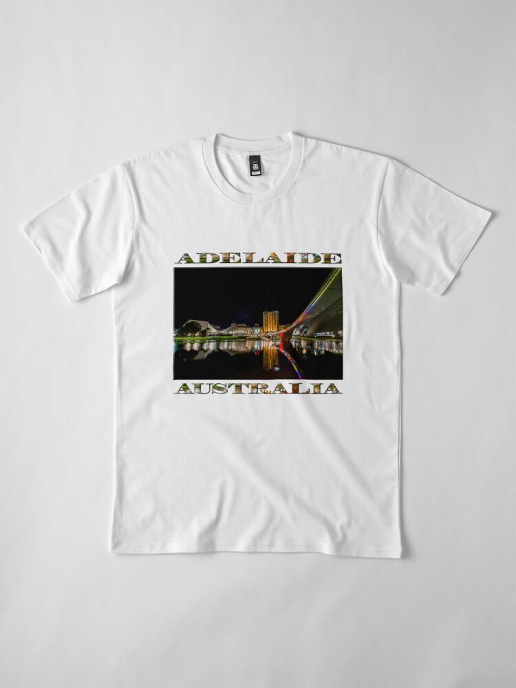 Alternate view of Adelaide Riverbank at Night (poster on white) Premium T-Shirt