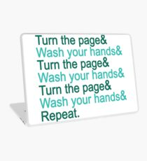 Turn the page & wash your hands Laptop Skin
