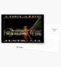 Adelaide Riverbank at Night (poster on black) Postcards