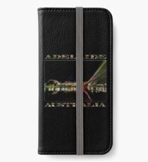 Adelaide Riverbank at Night (poster on black) iPhone Wallet/Case/Skin