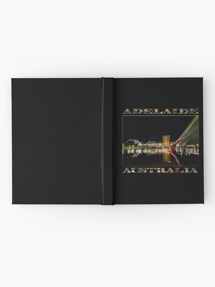 Alternate view of Adelaide Riverbank at Night (poster on black) Hardcover Journal
