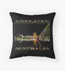 Adelaide Riverbank at Night (poster on black) Throw Pillow
