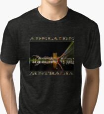 Adelaide Riverbank at Night (poster on black) Tri-blend T-Shirt