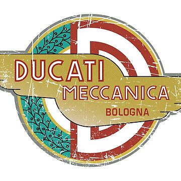 Ducati Logo - Classic Distressed Look 1958  by fmd159