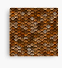 Earthy Abstract Scale Pattern Canvas Print
