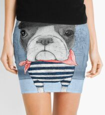 French Bulldog in front of Arc de Triomphe. Mini Skirt