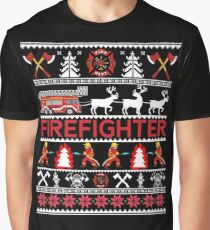 firefighter ugly christmas sweater tee shirt gifts graphic t shirt
