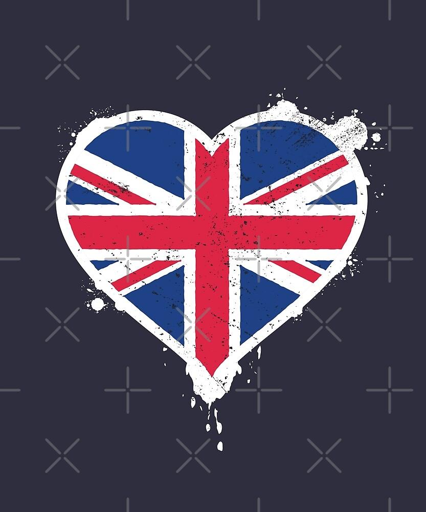 Union Jack Heart Flag by zoljo