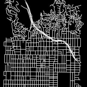 Hollywood, Los Angeles Street Network Map Graphic by ramiro