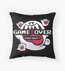 Gaming - Mario Bros - Game Over - King Boo Throw Pillow