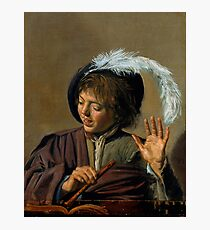 "Frans Hals ""Singing Boy with Flute"" Photographic Print"