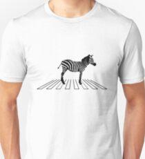 Zebra on crosswalk Unisex T-Shirt