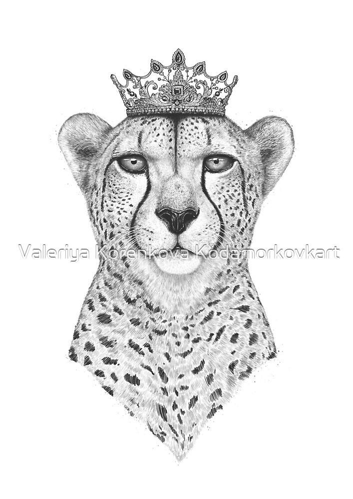 The Queen Cheetah by Valeriya Korenkova Kodamorkovkart