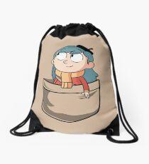 Hilda in the pocket Drawstring Bag