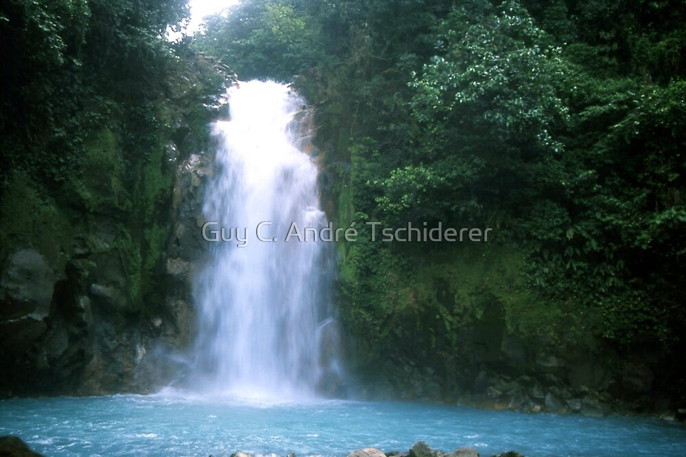 Rio Celeste (blue river) Waterfall by Guy C. André Tschiderer