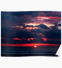 Costa Rica, Flamingo Beach Sunset Poster