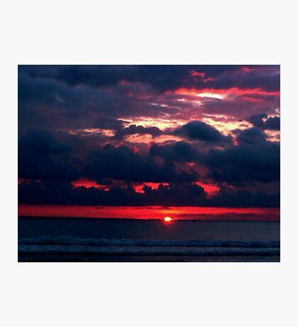 Costa Rica, Flamingo Beach Sunset Photographic Print