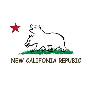 new california republic drawing by TheMemeMachine
