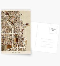 Chicago City Street Map Postcards