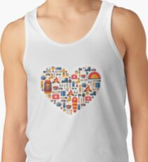 Hiking and tourism love Tank Top