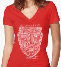 DABNOTU_IF_THERE_WAS_MORE_GEGL_2 Women's Fitted V-Neck T-Shirt