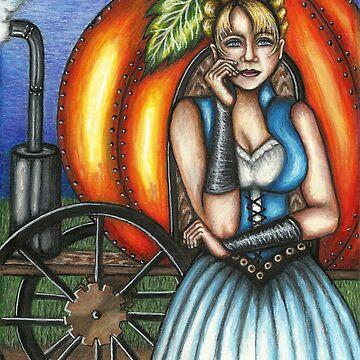Steampunk Cinderella by TASIllustration