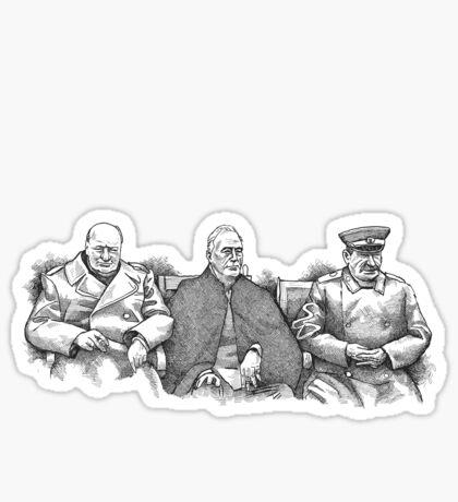 Yalta Conference 1945 Sticker