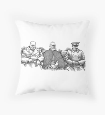 Yalta Conference 1945 Throw Pillow