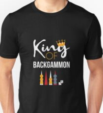 King of Backgammon T-Shirt Board Game Backgammon Player Tee Unisex T-Shirt
