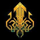 Golden Kraken Sigil by etall