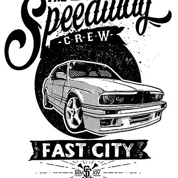 The Speedway Crew Fast City Racing Gift by iwaygifts