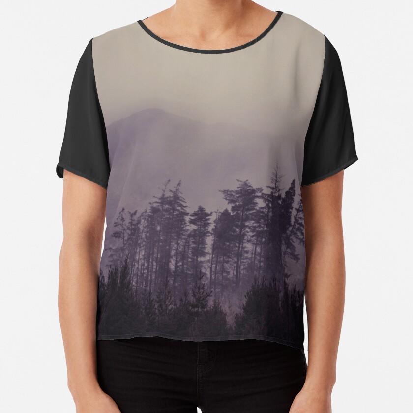 Mystic Trees Chiffon Top