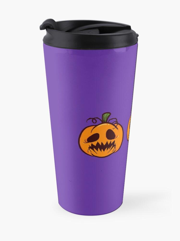 Alternate view of Mischievous Pumpkins Travel Mug