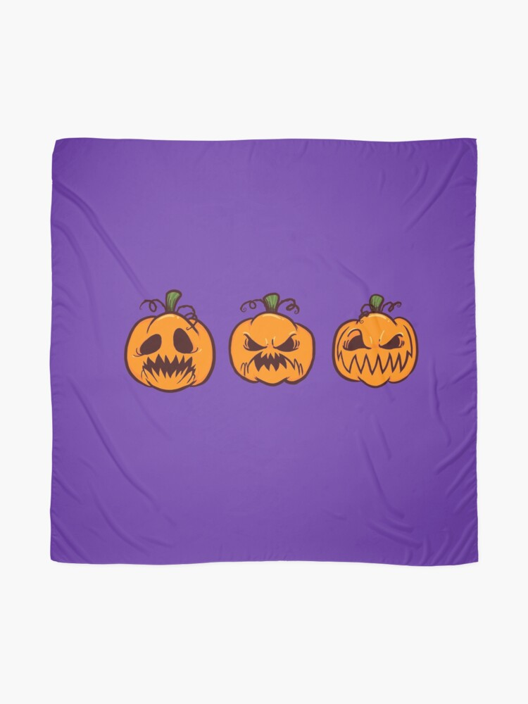 Alternate view of Mischievous Pumpkins Scarf