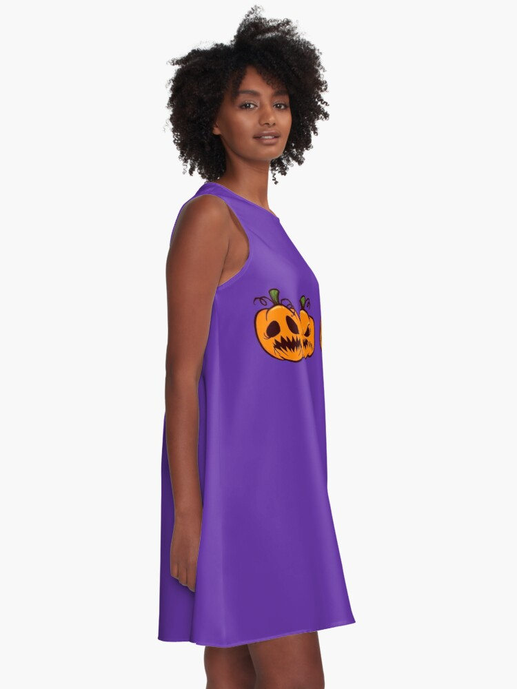 Alternate view of Mischievous Pumpkins A-Line Dress