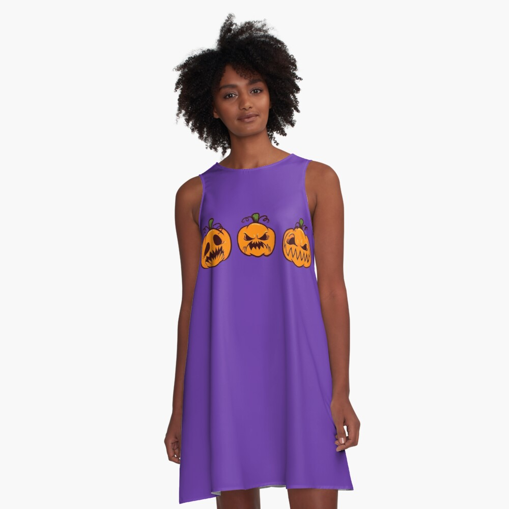 Mischievous Pumpkins A-Line Dress