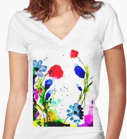 BAANTAL / Pollinate / Evolution #11 Fitted V-Neck T-Shirt