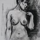 Spanish girl - life drawing session by Mick Kupresanin