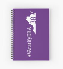 Vertical white state logo with hashtag Spiral Notebook