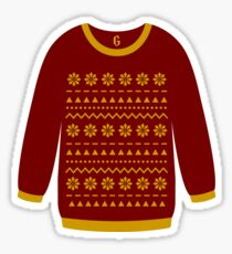 Red Christmas Sweater Sticker
