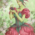 Rose Seelie Faerie Fairy Art Floral Flower Woman Olde Fae Game Art by angelasasser