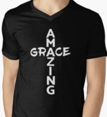Amazing Grace Cool Christian Shirt For Him And For Her  Men's V-Neck T-Shirt