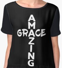 Amazing Grace Cool Christian Shirt For Him And For Her  Chiffon Top