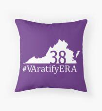White state logo with hashtag Throw Pillow
