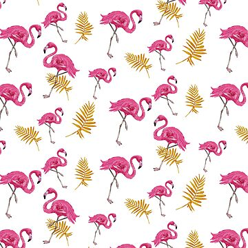 Tropical Flamingo Pattern by TshirtsUK