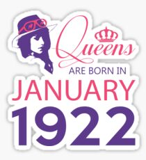 It's My Birthday 96. Made In January 1922. 1922 Gift Ideas. Sticker